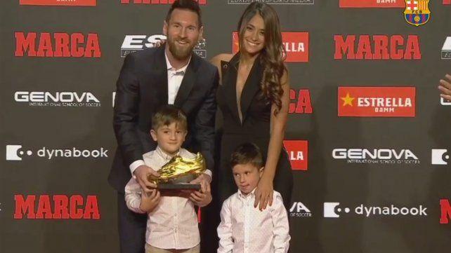 El show de Mateo Messi en la gala de entrega del Botín de Oro