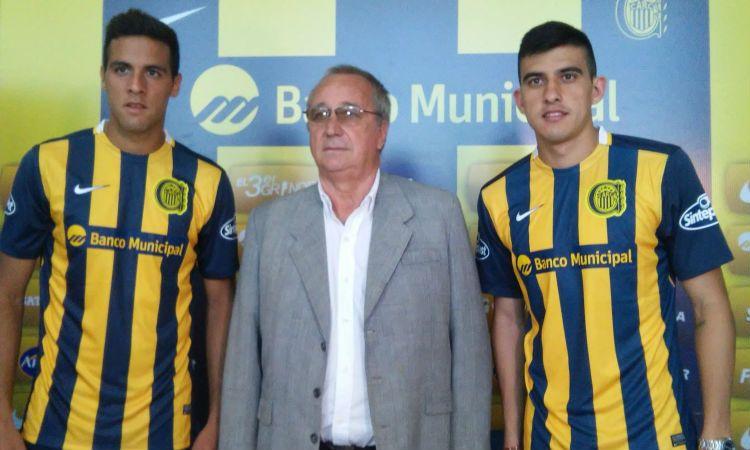 El presidente Brgolia presentó a los refuerzos canallas: el defensor Burgos y el volante Battaglia.