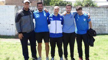 Cuerpo técnico: El entrenador Damián Sciretta con plantel de colaboradores.Agustín Fydriszewski, Leonardo Acoglanis, Francisco Restelli y Nicolás Calcagno.