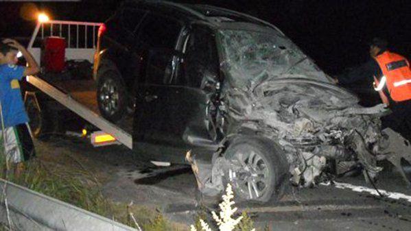 Así quedó el vehículo que conducía Chano.