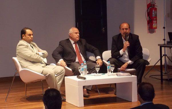 El diputado nacional y el senador provincial participaron anteayer del Congreso Polinómico 2014.