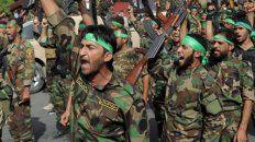 Milicias shiítas sirias armadas y respaldadas por Irán. Fueron el blanco del ataque del Pentágono.