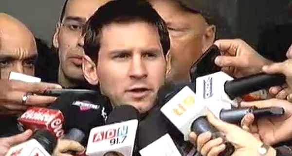 Messi confió en Ezeiza que cada vez que llega a la Argentina le demuestran más cariño