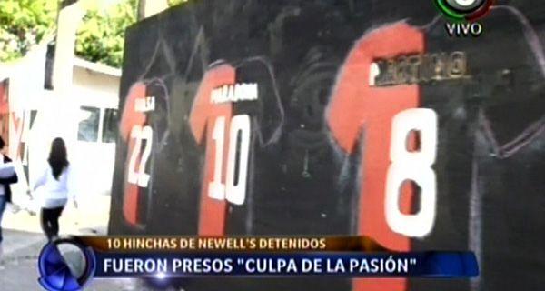 El paredón pintado está ubicado en 3 de Febrero entre Alvear y bulevar Oroño.