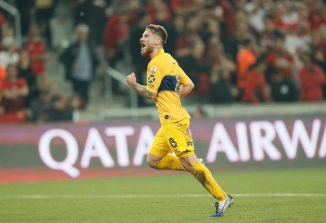 Alexis Mac Allister marcó el gol de Boca. Es la primera vez que un padre y un hijo hacen goles en la Primera Xeneize