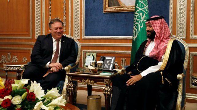Mike Pompeo se entrevistó con el rey Salman