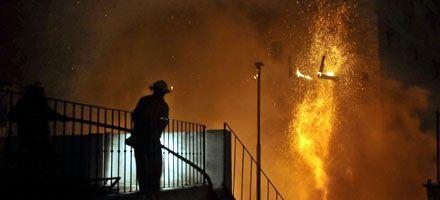Un incendio en una obra en construcción se extendió al complejo Gurruchaga