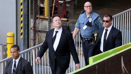 Elon Musk en una de sus visitas a la corte de Delaware para testificar en una demanda.