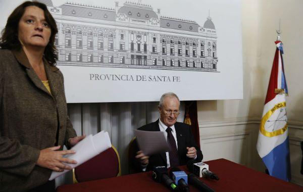 Ana Viglione y el ministro de Seguridad