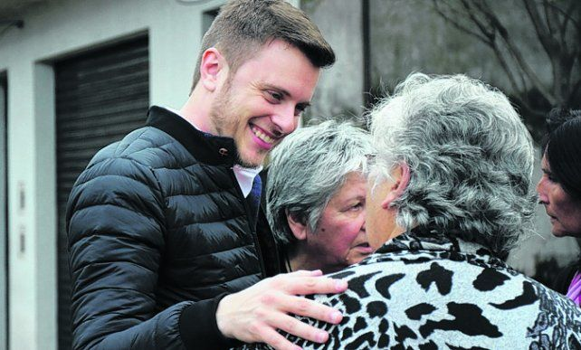 López Molina. El candidato a concejal se tiene fe para el domingo.
