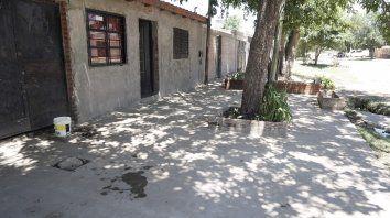La vivienda de Montevideo al 1300, en Granadero Baigorria, en donde murió baleada Natalia Maldonado.