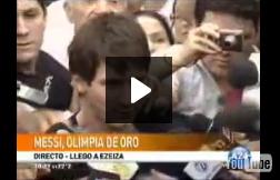 Messi agradeció el Olimpia de Oro: Recibí premios en todo el mundo y ahora en mi país