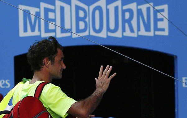 Impensado. El suizo Roger Federer se despidió rápido y sorpresivamente.