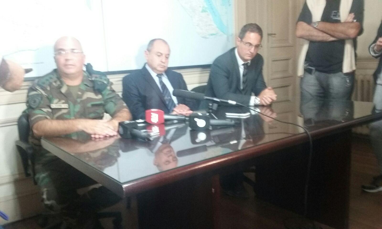 El fiscal Dalmau encabeza la rueda de prensa este mediodía en Gobernación.