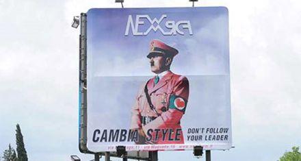 Polémica en Italia por publicidad de ropa con la imagen de Hitler