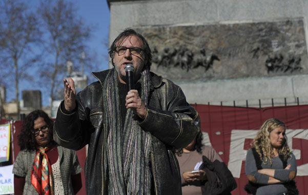 El secretario general de Amsafé Rosario pidió ocuparse de las escuelas más carenciadas. (Foto: V. Benedetto)