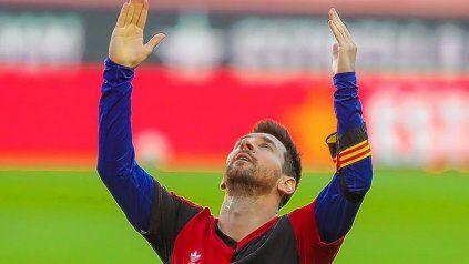 Lionel Messi marcó un golazo y se lo dedicó a Maradona