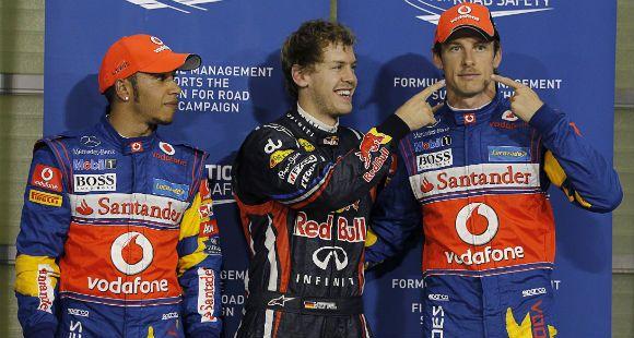 Sebastian Vettel logró hoy la décimo cuarta pole positions en su exitosa temporada