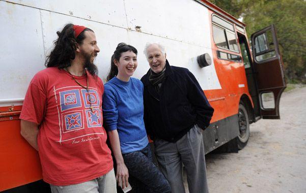 Recreo. En un paréntesis de la filmación el director Sergio Mazza y los actores Sofía Gala y Federico Luppi. (foto: Héctor Rio)