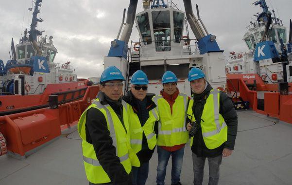 Competitividad. Gerentes de la cooperativa de Puerto San Martín durante la gira europea en busca de tecnología.