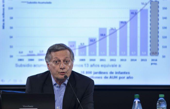 Aranguren. El ministro de Energía subió el precio de la energía mayorista.