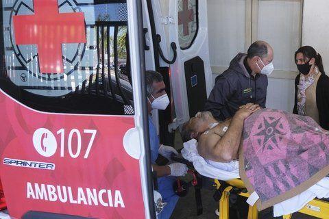 Miguel Arias fue trasladado a un hospital de Paso de los Libros para ser intervenido quirúrgicamente tras ser baleado en el abdomen el jueves a la noche