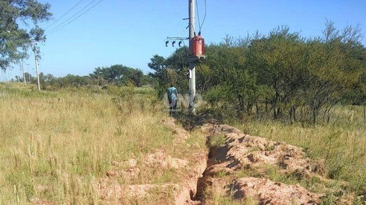 Se robaron los cables y la Ruta 168 se quedó sin luz en un gran tramo