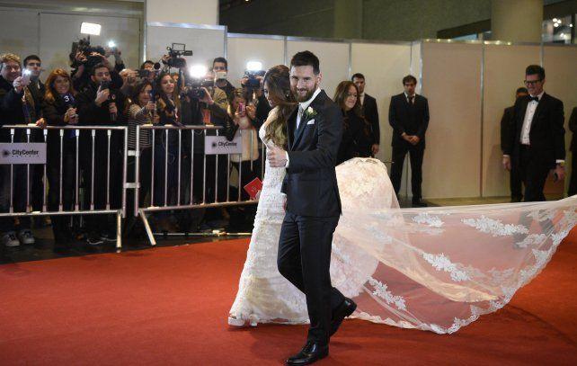 Messi agradeció las muestras de afecto en el día tan especial de su casamiento