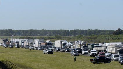 Protesta de transportistas autoconvocados. La medida de fuerza arrancó el lunes.