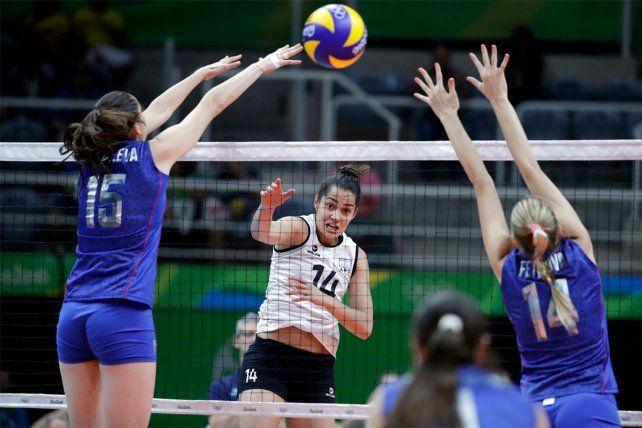 Las Panteras del vóley no pudieron ante Rusia en el debut absoluto en Juegos Olímpicos
