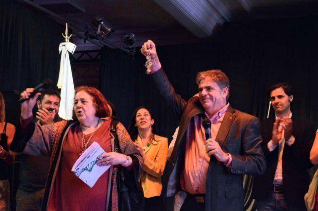 Jorge Llonch (derecha) junto a Chiqui González en Plataforma Lavardén.
