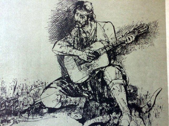 Una de las geniales ilustraciones de Juan Carlos Castagnino sobre el Martín Fierro.