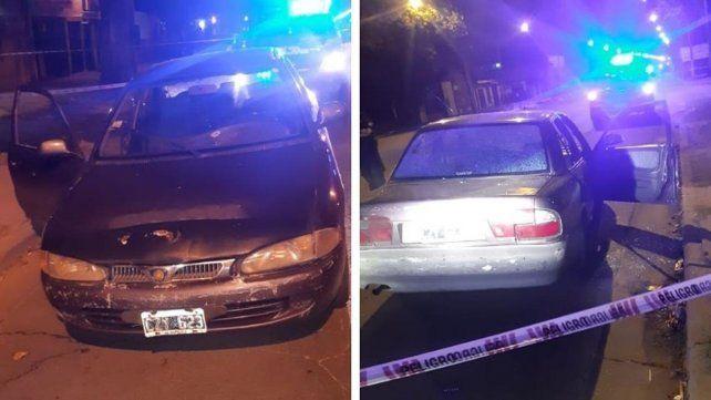 Frente y culata del vehículo acribillado anoche
