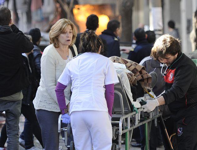 El número de heridos ascendía con el correr de los minutos.