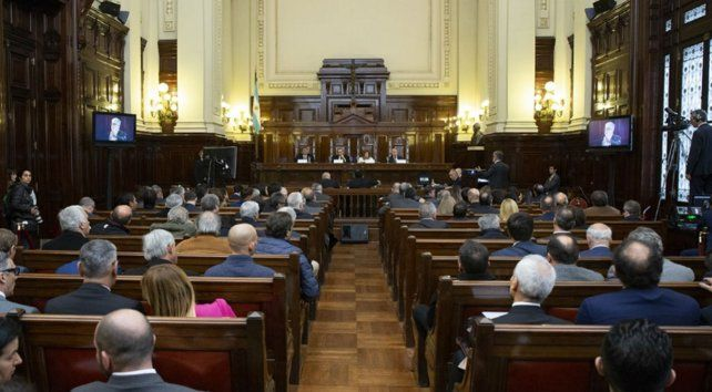 Los actores. El jueves se desarrolló una audiencia pública en la Corte Suprema de la Nación.