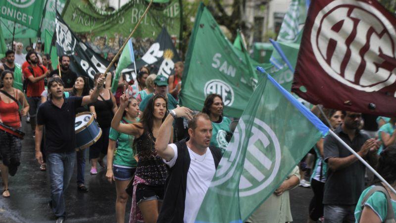 Los estatales marcharán por el centro rosarino. (Foto: Virginia Benedetto / La Capital)