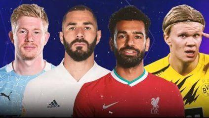 De Bruyne, Benzema, Salah y Haaland van por todo.