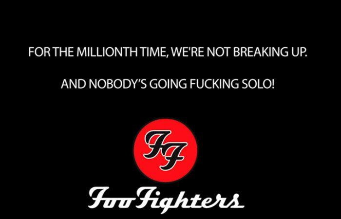 Los Foo Fighters publican hilarante video para desmentir la separación del grupo