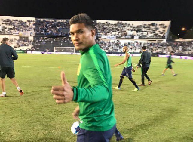 Teo fue suplente en el partido de esta noche de Central frente a Quilmes.