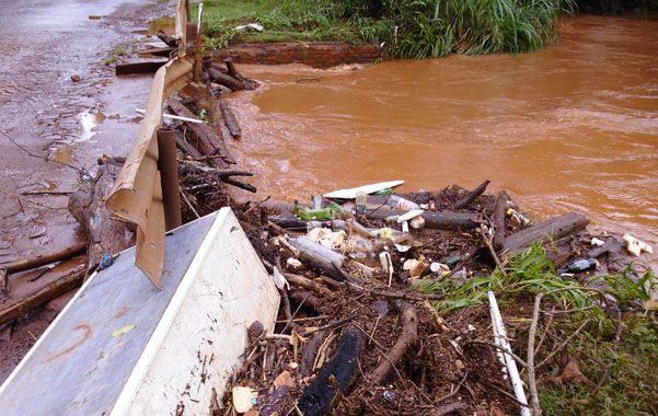 Penoso. Un hombre perdió la vida tras salvar a un niño en el arroyo Mbotaby de Oberá.