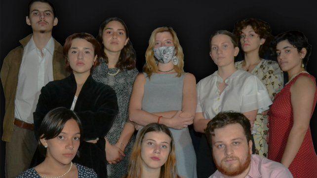 Actores y alumnos. Miranda Postiglione Martinetti