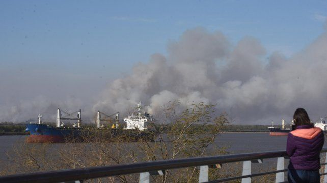 El humo afecta claramente la salud de los rosarinos.
