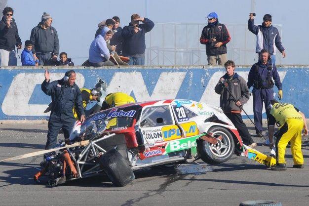 El múltiple accidente involucró a siete autos pero no dejó heridos.