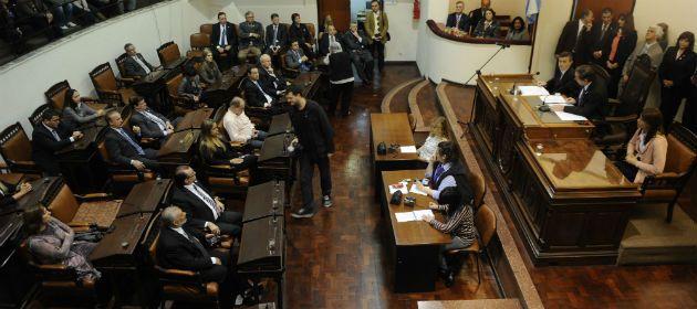 El recinto de sesiones del Concejo. Ayer el debate fue caliente en torno al presupuesto.