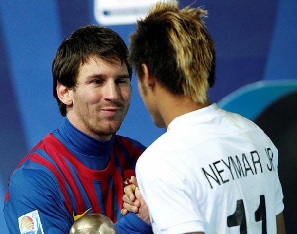 Messi junto a su nuevo compañero del Barça