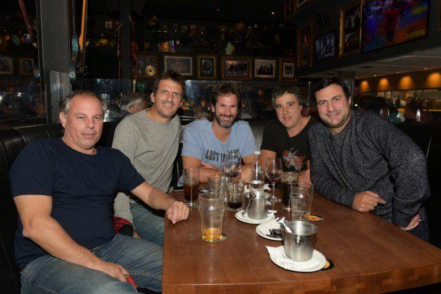 Ciro Colombo, Fabricio D'angelo, Rolo Sauan, Marton Mackey y Alfredo Genera.