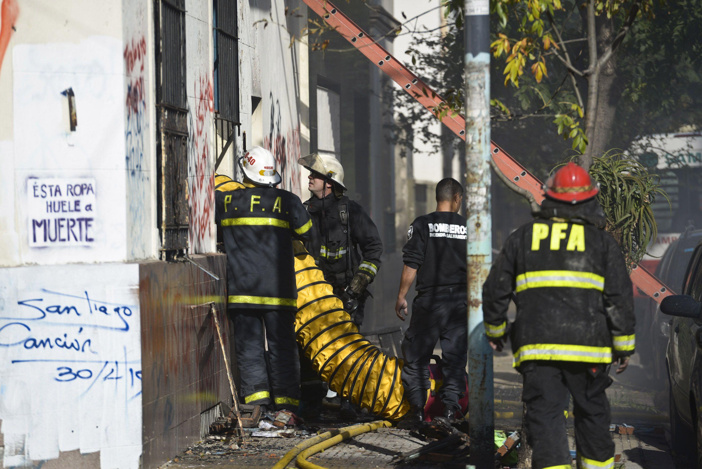 El taller textil clandestino se incendió y murieron dos chicos.