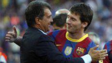 """""""Mantengo contacto con Leo, nos aprecia y el respeto es mutuo, pero de su renovación no hemos hablado"""", afirmó Laporta."""