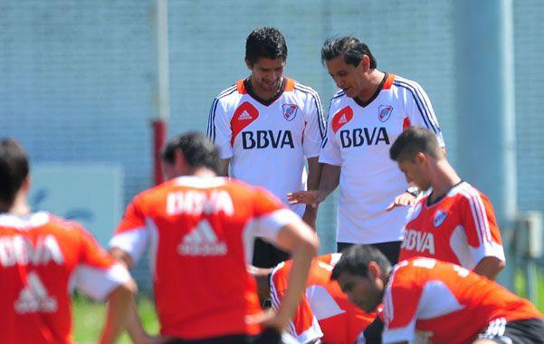 Confiado. El riojano ensayó con el mismo equipo que venció a Independiente.