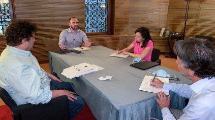 El ministro Martín Guzmán encabezó las reuniones con técnicos del FMI en Venecia.
